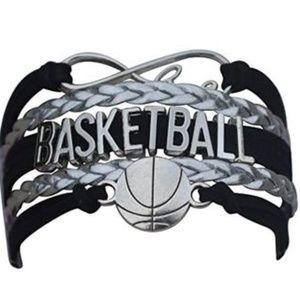 Girls Basketball Bracelet - Black & Silver